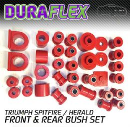 TRIUMPH SPITFIRE / HERALD FRONT & REAR BUSH SET